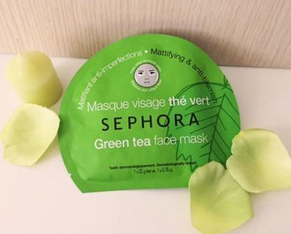 masque sephora visage thé vert