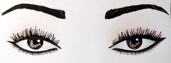 maquillage yeux noirs foncés