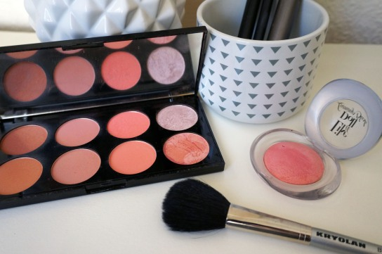 maquillage blush joues rose palette