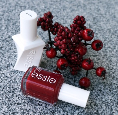 vernis essie rouge topcoat fêtes